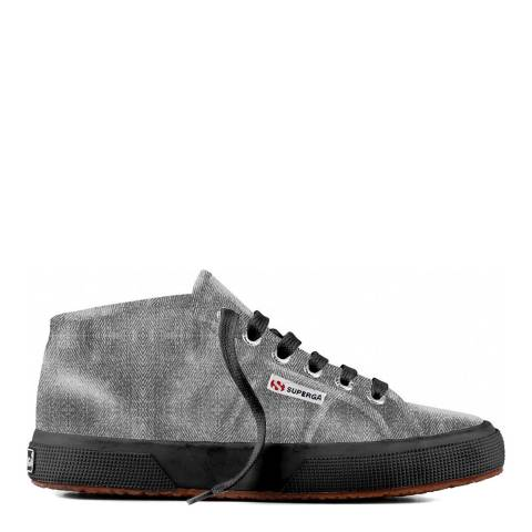 Superga Black & Grey 2754 Cotmetu Sneakers