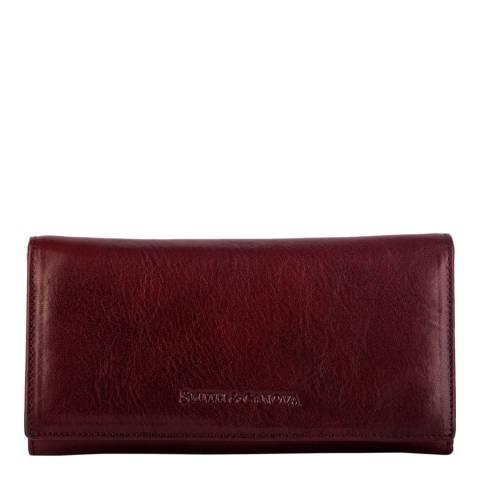 Smith & Canova Brown Zip Sectioned Flapover Purse