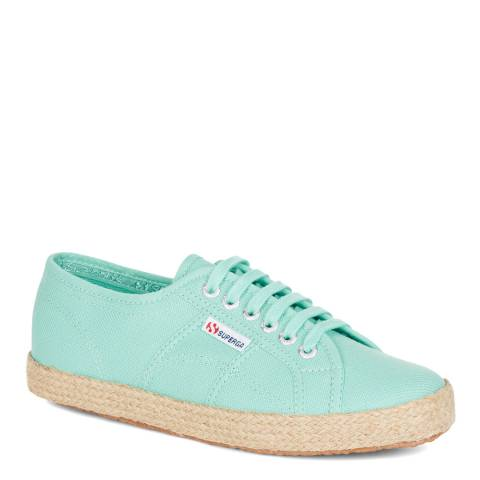 Superga Women's Green Aqua Canvas Espadrille Trainers