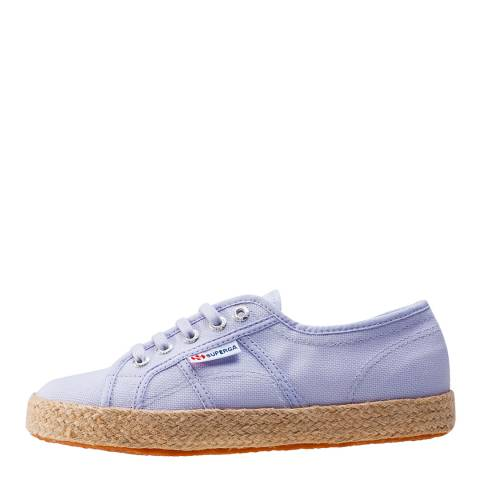 Superga Women's Violet Lilac Canvas Espadrille Trainers