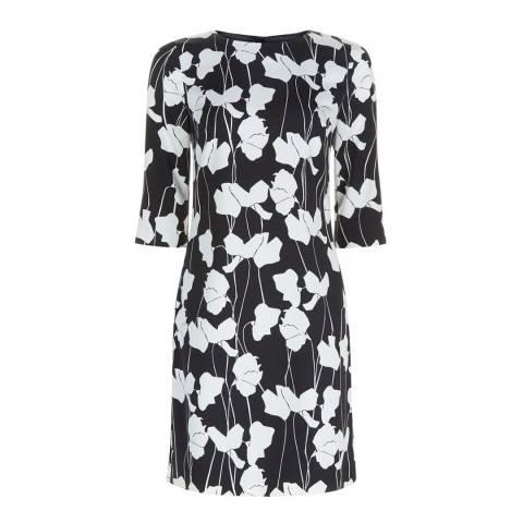 Hobbs London Black/Ivory Chrissie Dress