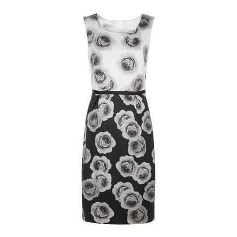 Hobbs London Ivory/Black Giselle Dress