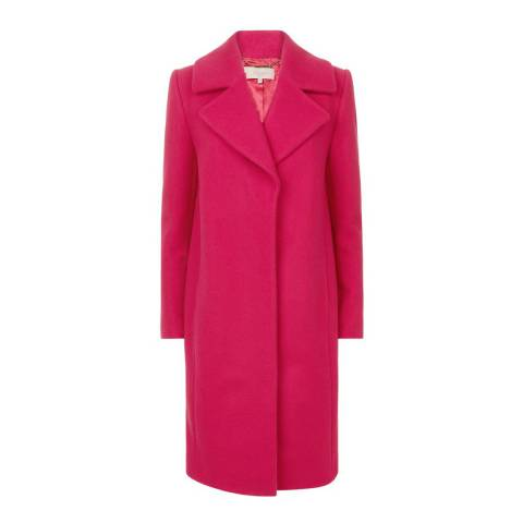 Hobbs London Hot Pink Lillian Coat