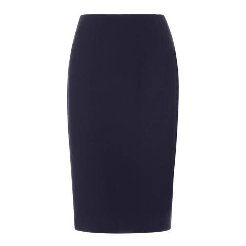 Hobbs London Navy Celina Skirt