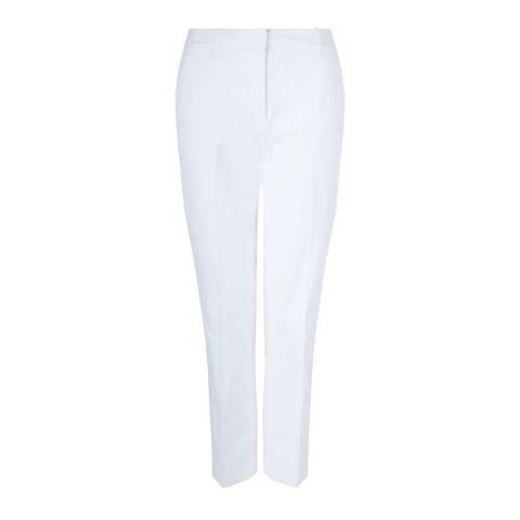 Hobbs London White Ava Trousers