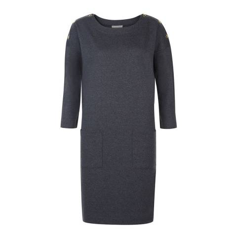 Hobbs London Grey Marl Kourtney Cotton Dress