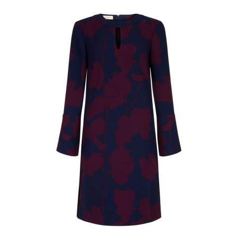 Hobbs London Midnight/Wine Florella Dress