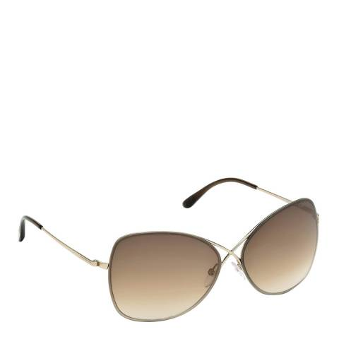 Tom Ford Women's Colette Shiny Rose Gold/Brown Gradient Sunglasses 63mm