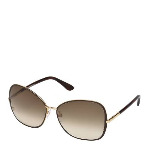 Tom Ford Women's Solange Brown Gold/Graduated Brown Sunglasses 61mm