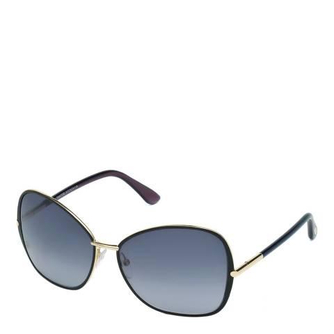 Tom Ford Women's Solange Black/Gold Sunglasses 61mm