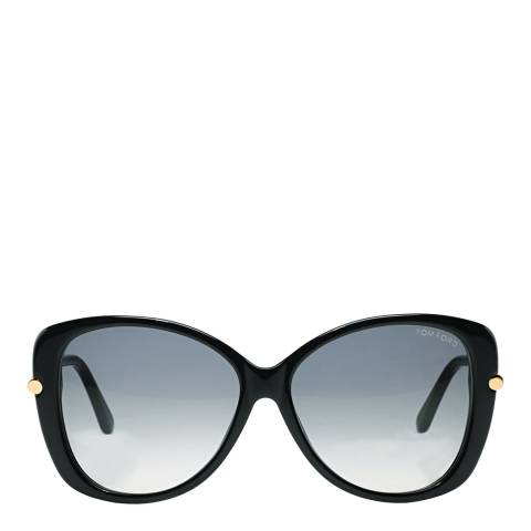 Tom Ford Women's Linda Shiny Black/Graduated Smoke Sunglasses 59mm