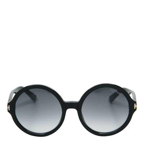 Tom Ford Women's Juliet Polished Black/Graduated Smoke Sunglasses 55mm