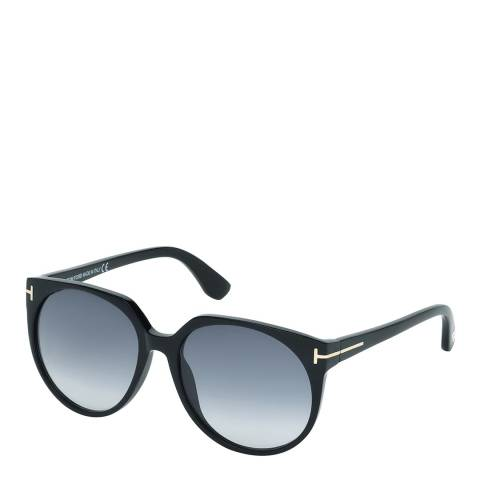 Tom Ford Women's Agatha Polished Black/Graduated Smoke Sunglasses 56mm