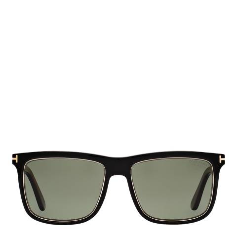 Tom Ford Men's Karlie Shiny Black/Green Sunglasses 57mm
