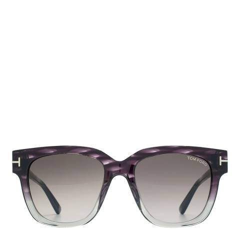 Tom Ford Women's Tracey Graduated Violet /Grey /Bordeaux Sunglasses 53mm