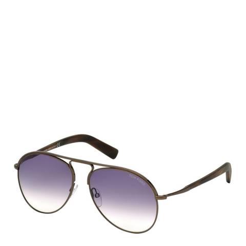 Tom Ford Men's Cody Dark Brown/Purple Gradient Sunglasses 56mm