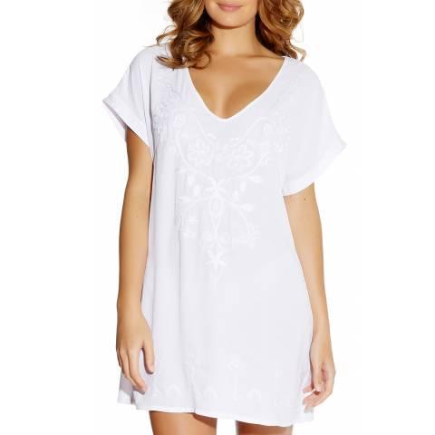 Fantasie White Thea Embroidered Tunic