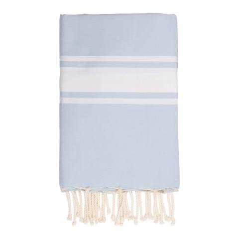 Febronie St Tropez Hammam Towel, Pastel Blue