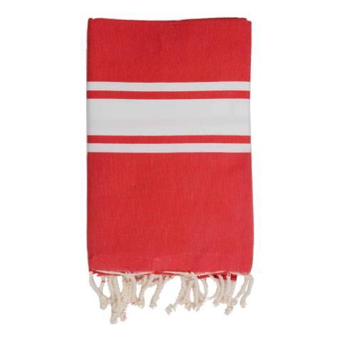 Febronie St Tropez Hammam Towel, Red