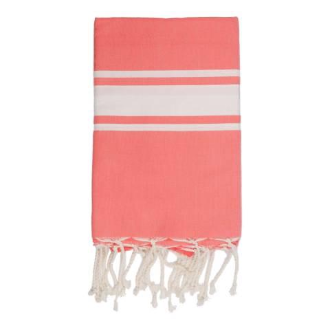 Febronie St Tropez Hammam Towel, Coral