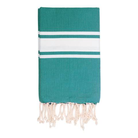 Febronie St Tropez Hammam Towel, Emerald