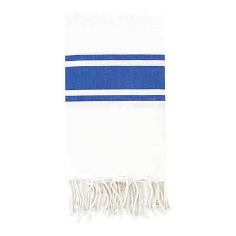 Febronie St Tropez Hammam Towel, White/Blue