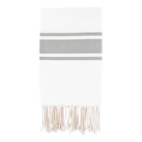 Febronie St Tropez Hammam Towel, White/Pearl