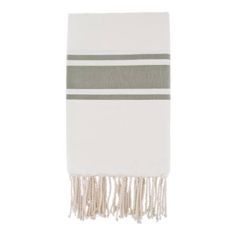 Febronie St Tropez Hammam Towel, White/Taupe
