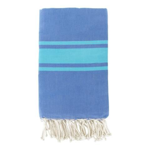 Febronie St Tropez Hammam Towel, Blue/Turquoise