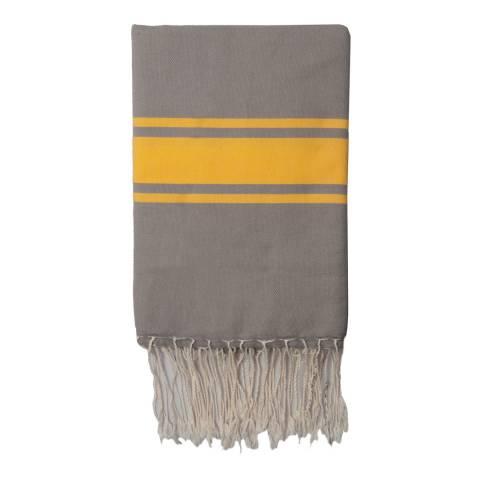Febronie St Tropez Hammam Towel, Taupe/Yellow