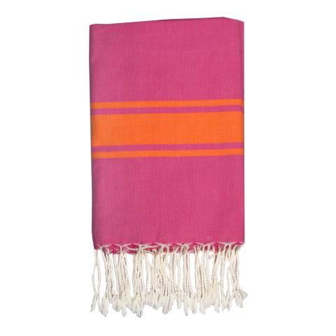 Febronie St Tropez Hammam Towel, Fuchsia/Orange