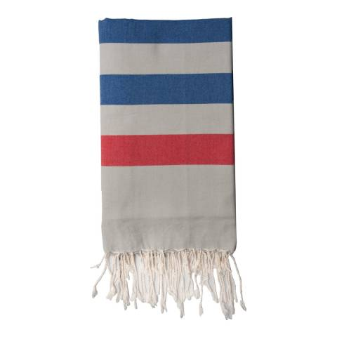 Febronie Arachon Hammam Towel, Blue/Red