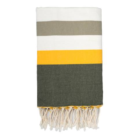 Febronie Arachon Hammam Towel, Taupe/Yellow/Khaki