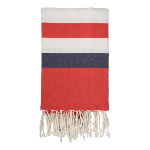Febronie Arachon Hammam Towel, White/Red/Blue