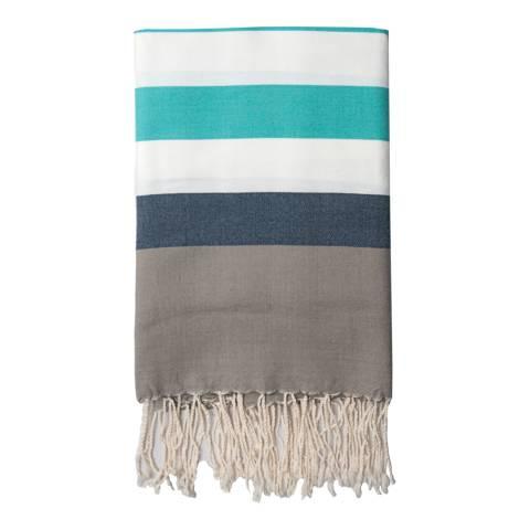 Febronie Arachon Hammam Towel, Turquoise/Blue