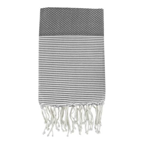 Febronie Ibiza Hammam Towel, Medium Grey