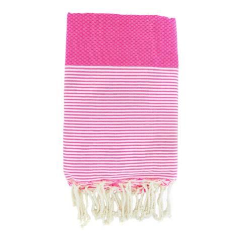 Febronie Ibiza Hammam Towel, Fuchsia