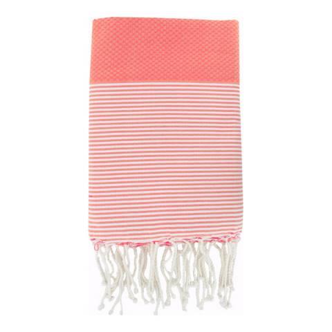 Febronie Ibiza Hammam Towel, Coral