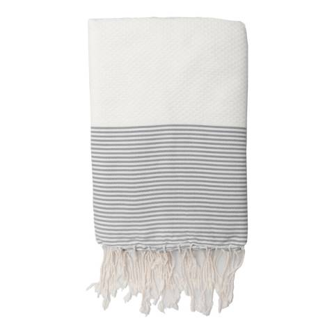 Febronie Ibiza Hammam Towel, White/Pearl