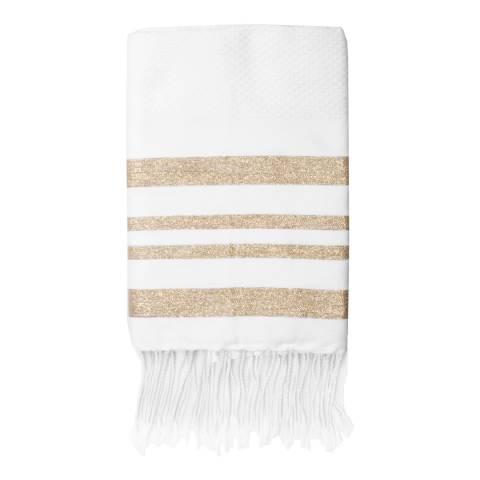 Febronie Hamptons Hammam Towel, Gold/White