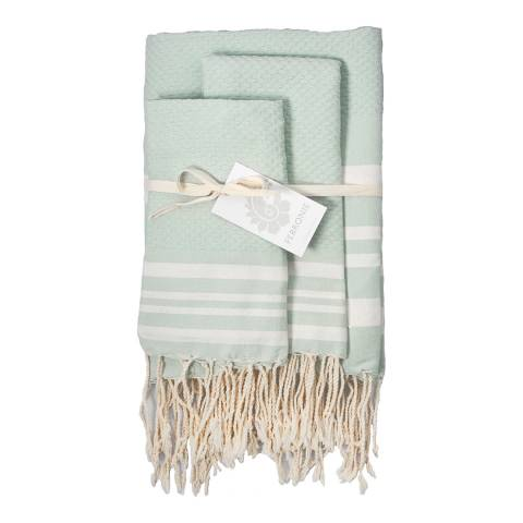 Febronie Hamptons Set of 3 Hammam Towels, Orange