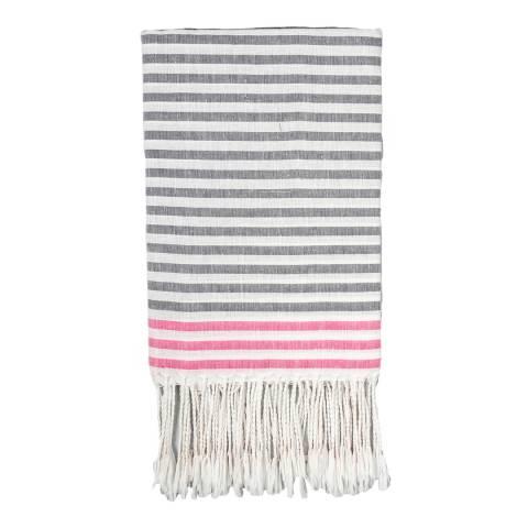 Febronie Bora Bora Hammam Towel, Grey/Pink
