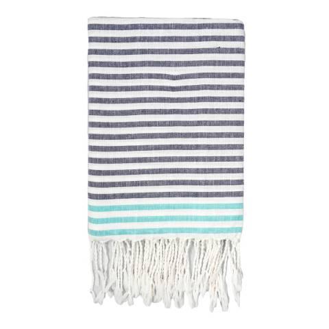 Febronie Bora Bora Hammam Towel, Blue/Turquoise