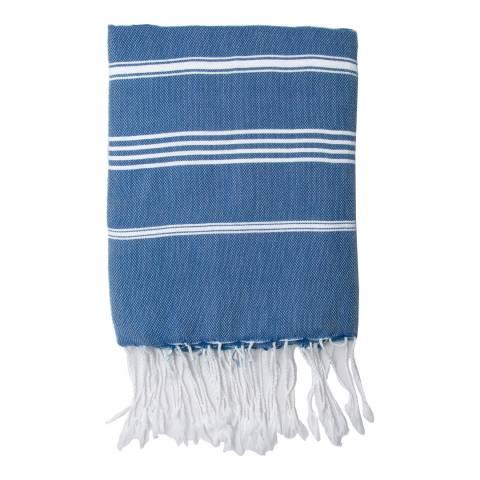 Febronie Mykonos Hammam Towel, Blue