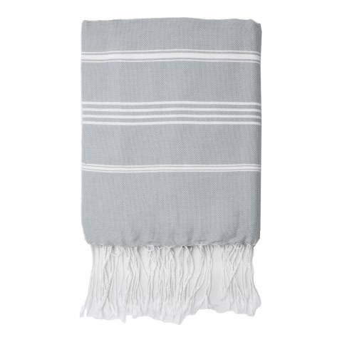 Febronie Mykonos Hammam Towel, Pearl Grey