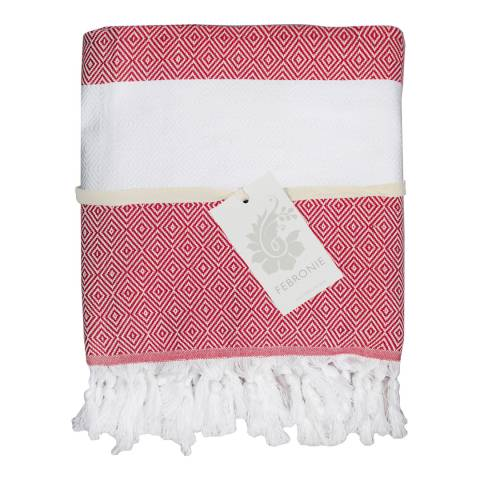Febronie Courchevel XXL Hammam Throw, Red