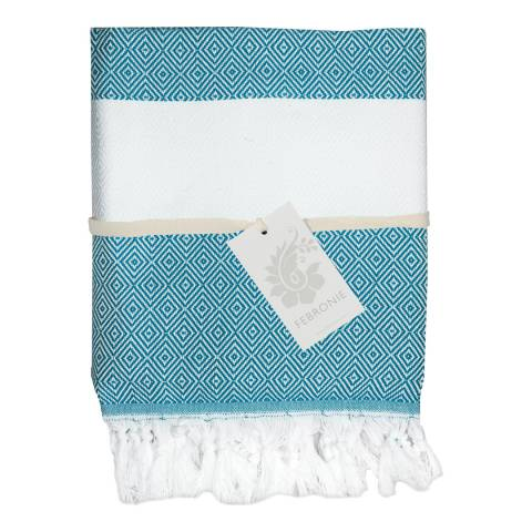 Febronie Courchevel XXL Hammam Throw, Duck Egg