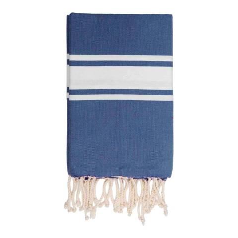 Febronie St Tropez Hammam Towel, Blue