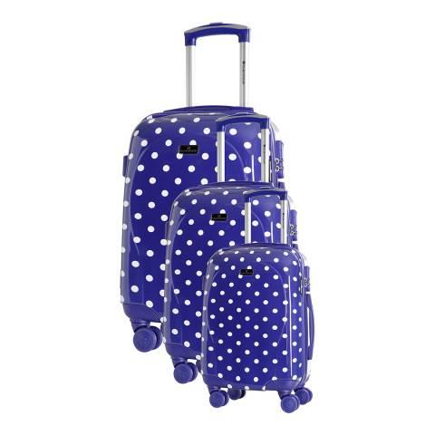 Platinium Marine Phuket Set Of Three 8 Wheel Suitcases 50/60/70cm
