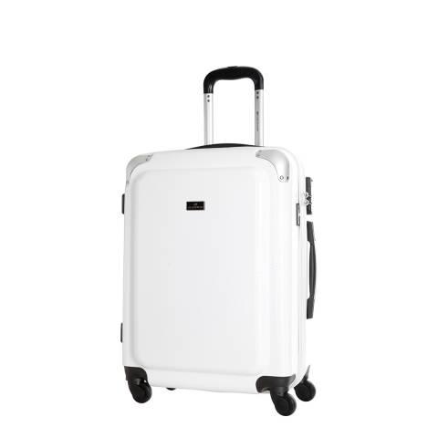 Platinium White Robinson 4 Wheel Suitcase 55.5cm